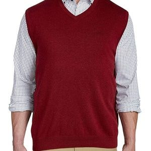 ASK SIZE 3XL BURGUNDY VEST - NEW WITH TAGS